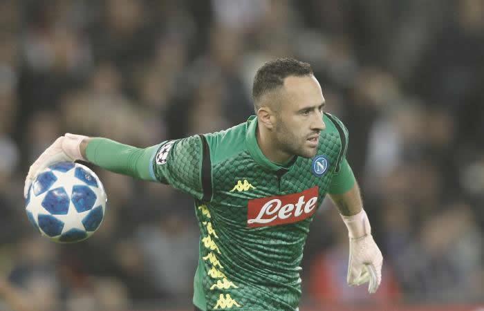 David Ospina regresó a la titular con Nápoles. Foto: EFE
