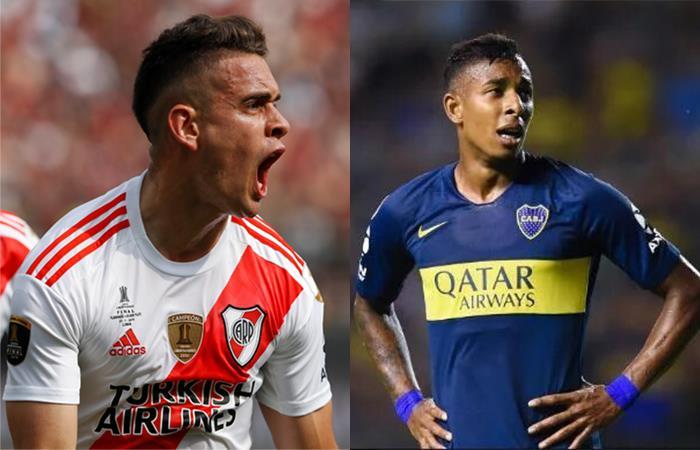 Borré y Villa fueron protagonistas en el fútbol argentino. Foto: Twitter