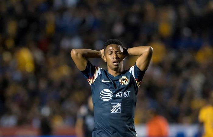 Andrés Ibargüen en el partido ante Tigres. Foto: EFE