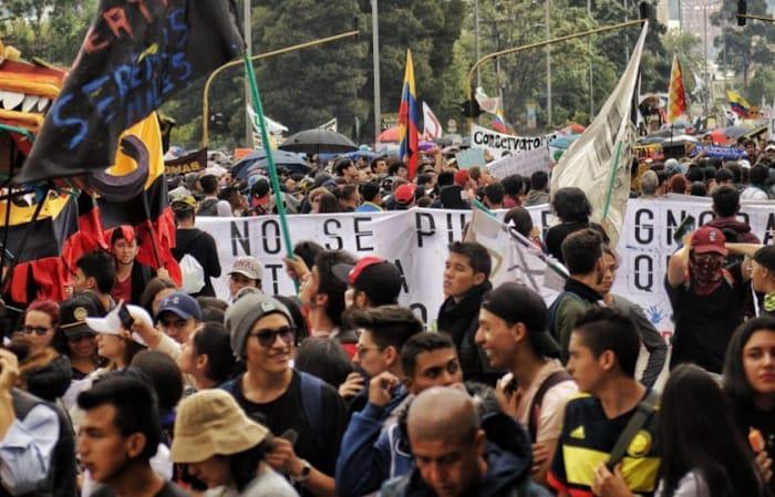 A pesar de los diálogos se seguirán realizando las movilizaciones. Foto: Twitter