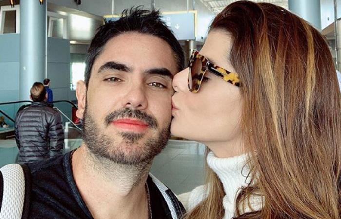 Polémico beso de Carolina Cruz y Lincoln Palomeque. Foto: Instagram