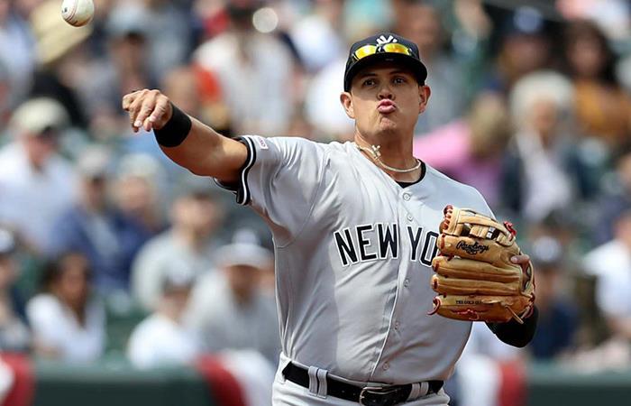 Giovanny Urshela ha brillado con los Yankees de Nueva York. Foto: Twitter