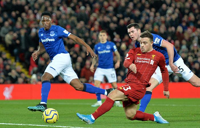 Premier League Resultado Everton Liverpool Yerry Mina