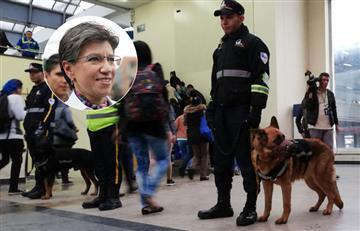 Claudia López retirará a los canes de seguridad de Transmilenio