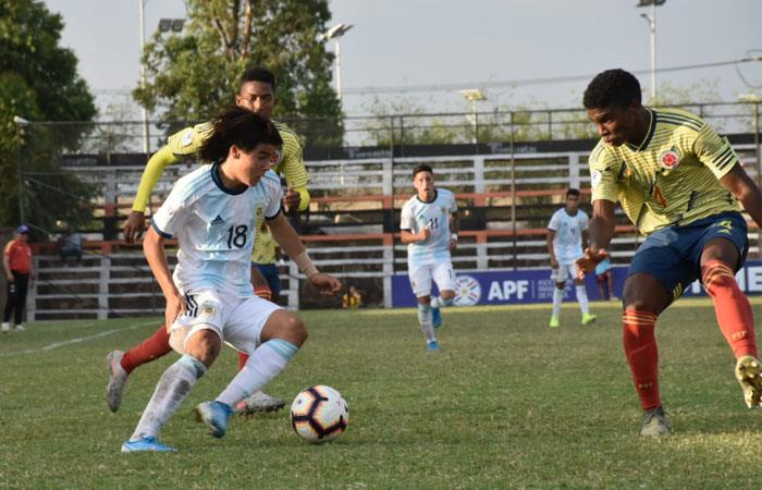 La Selección Colombia sub 15 fue goleada por Argentina