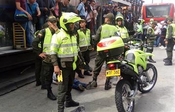 Pasajero falleció tras ser arrollado por articulado en la estación Calle 45