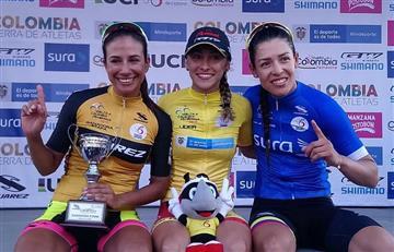 Natalia Muñoz se impuso en la tercera etapa de la Vuelta a Colombia Femenina