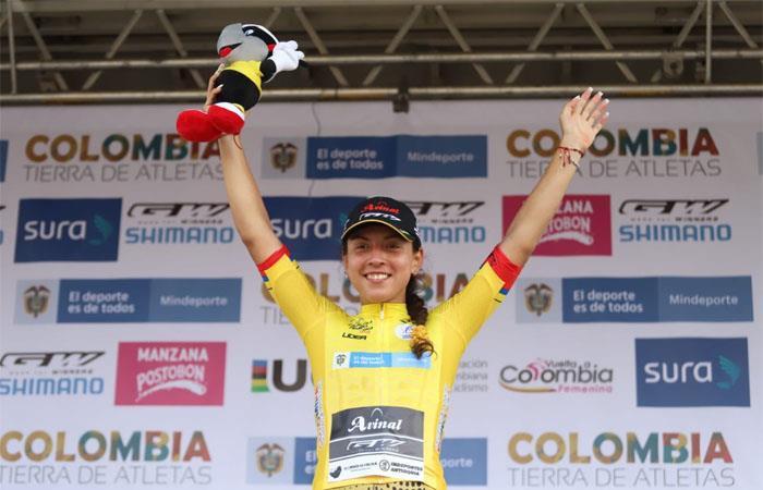 Aranza Villalón es la nueva líder de la Vuelta a Colombia Femenina