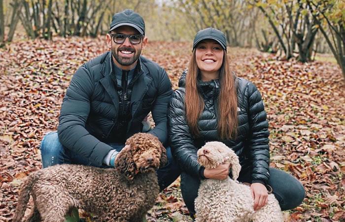 Lina Tejeiro y Norman Capuozzo. Foto: Instagram