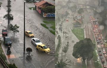 Fuerte aguacero complicó la movilidad hacia al norte de la ciudad por inundaciones en la vía