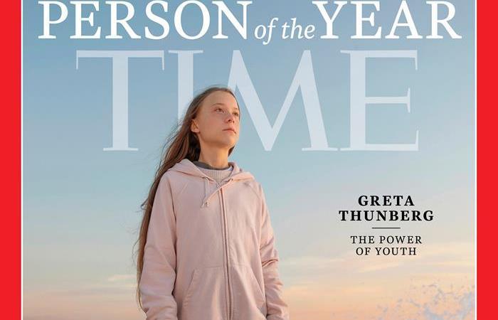 Greta Thunberg, en la portada de la Revista Time. Foto: EFE