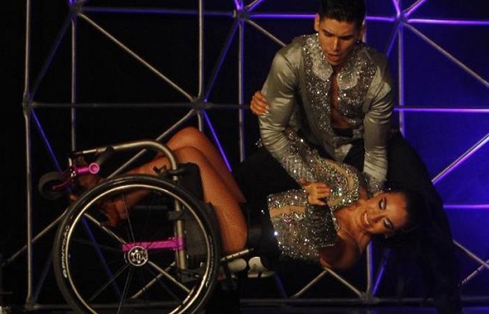 Bailarines en silla de ruedas inspiran en Mundial de Baile Latino en Colombia. Foto: EFE