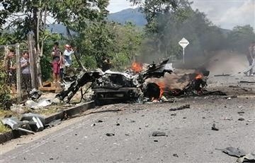 Tres soldados heridos tras explosión de carro bomba en Cubará