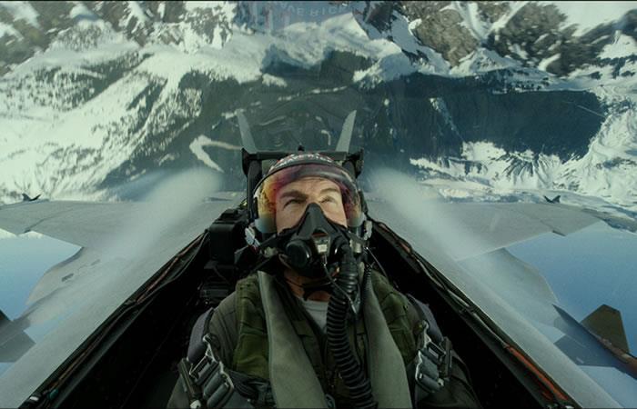 "Tom Cruise como el capitán Pete ""Maverick"" Mitchell. Foto: EFE"