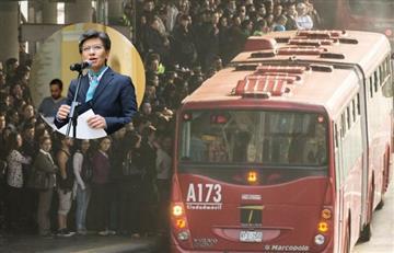 """Claudia López """"abre la puerta"""" a un alza en el pasaje de TransMilenio"""
