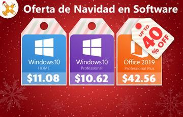 Oferta de Navidad en Software: Windows 10 Pro por $10.99 y Office 2019 por $42.59