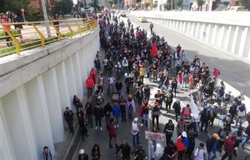 """Movilidad hacia al norte de Bogotá """"intermitente"""" por nueva marcha"""