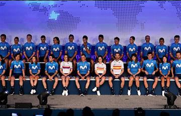 Cuatro colombianos estarán en el Movistar Team para la próxima temporada