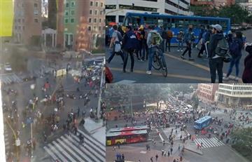 """Reportan cierre """"parcial"""" de la calle 72 con séptima por """"confrontaciones"""""""