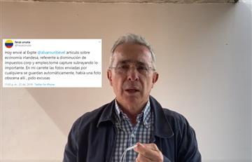 """Uribe habría creado cuenta de Twitter para """"limpiar culpas"""" por foto de mujer sin ropa"""