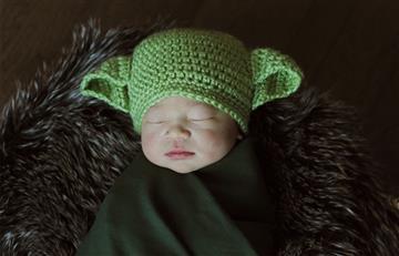 Bebés recién nacidos fueron vestidos como personajes de Star Wars