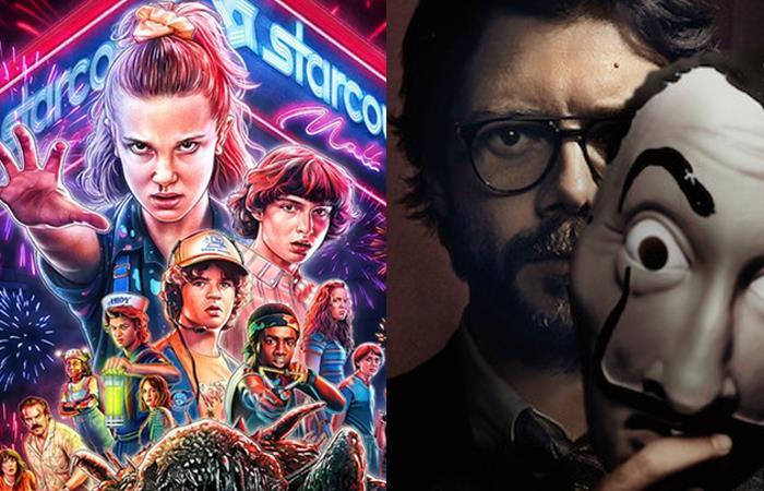 Stranger Things y La Casa de Papel triunfaron en 2019. Foto: Twitter