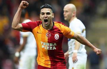 [VIDEO] Falcao fue figura en Galatasaray con sus dos goles