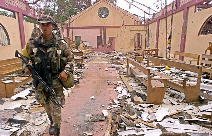 La masacre de Bojayá ocurrió el 2 de mayo de 2002. Foto: Twitter
