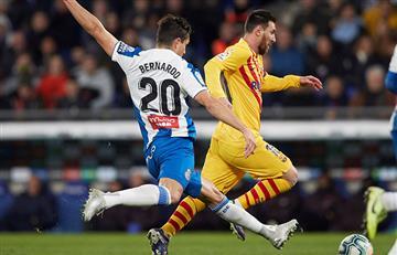 Bernardo Espinosa anuló a Messi en el empate entre Espanyol y Barcelona