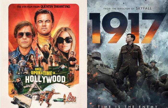 Once Upon a Time in Hollywood 1917 vencen Globos de Oro 2020