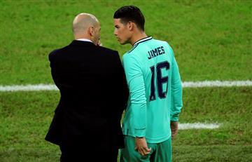 James tuvo su oportunidad en el partido ante Valencia