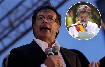 Gustavo Petro criticó a Claudia López por 'defender' el Metro de Peñalosa