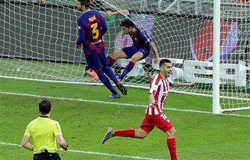 Atlético de Madrid elimina a Barcelona de la final de la Supercopa de España