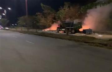 [VIDEO] 'Volqueta bomba' explotó en instalaciones de la Fuerza Aérea en Casanare