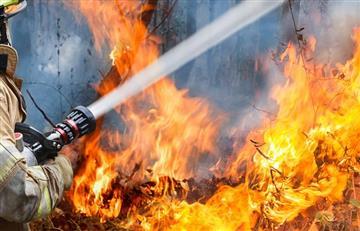 Reportaron incendio forestal en el Norte de Bogotá