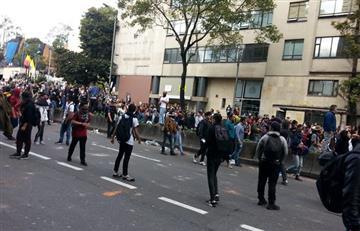 Nuevas concentraciones sobre la Av. Caracas mantienen un 'caos' en la movilidad