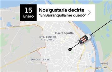"""Uber le dirá """"adiós"""" a Barranquilla desde el próximo 16 de enero"""