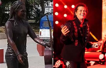 Polémica por estatua de Carlos Vives con 'apariencia de mujer'