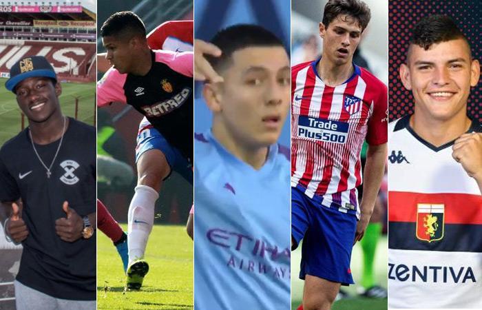 Arturo Reyes no llamó a estas promesas colombianas. Fotos: Clubes oficiales. Foto: EFE
