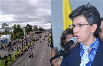 Claudia López no enviará más Esmad a las protestas en Bogotá