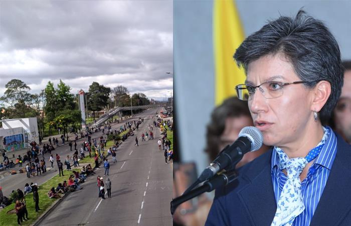 Manifestaciones Universidad Nacional Claudia Lopez