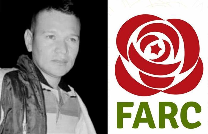 Hober Arias Giraldo, excombatiente de las FARC. Foto: Twitter