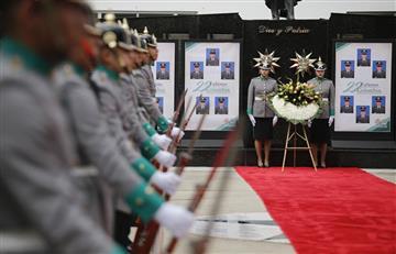 Así fue el homenaje a los 22 cadetes asesinados en la Escuela General Santander