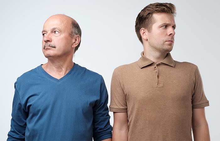 Razones parecido entre pareja y papá
