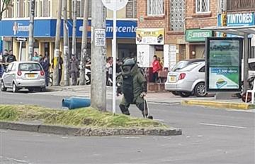 Bogotanos pasaron un gran susto por aparente cilindro bomba