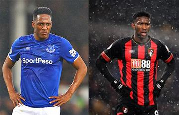 Yerry Mina y Jefferson Lerma fueron titulares en la Premier League