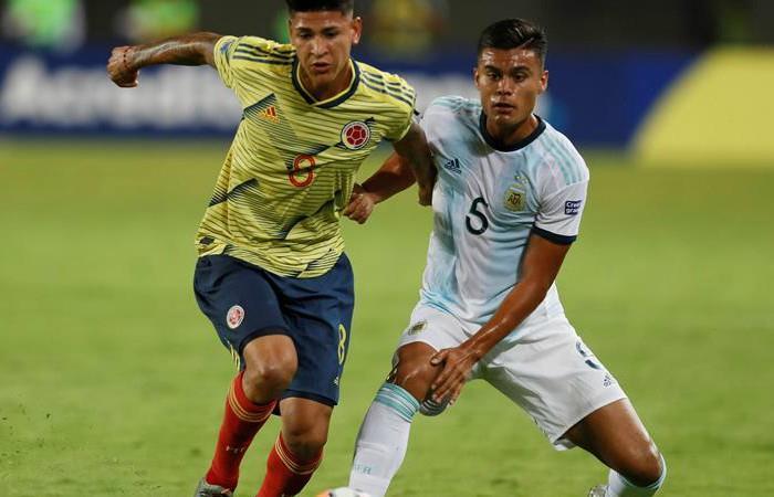 Colombia vs. Argentina en Preolímpico 2020. Foto: EFE