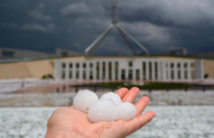 Alerta por granizo en Australia