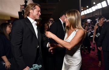 [VIDEO] Brad Pitt y Jennifer Aniston volvieron a demostrar su cariño en los SAG Awards