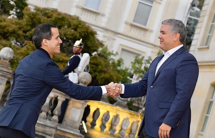 Juan Guaidó se reúne con Iván Duque en Colombia